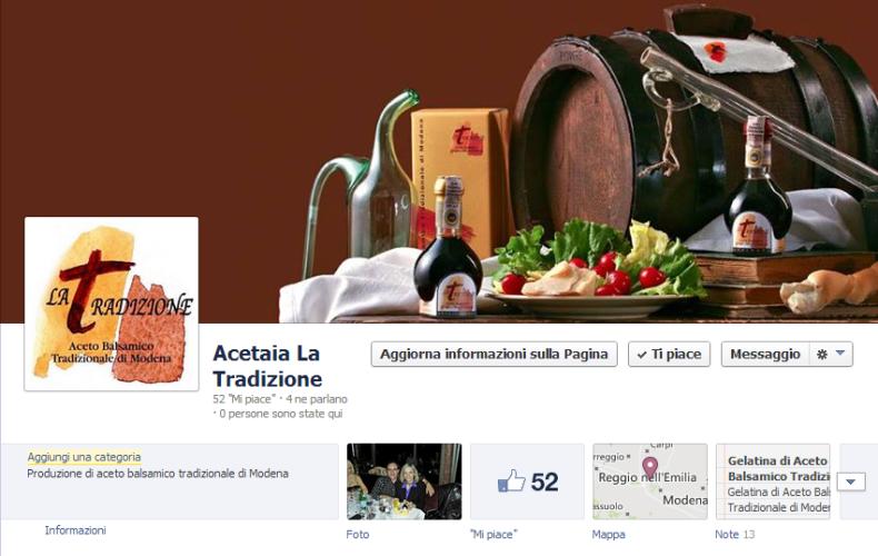 Acetaia La Tradizione è su Facebook!